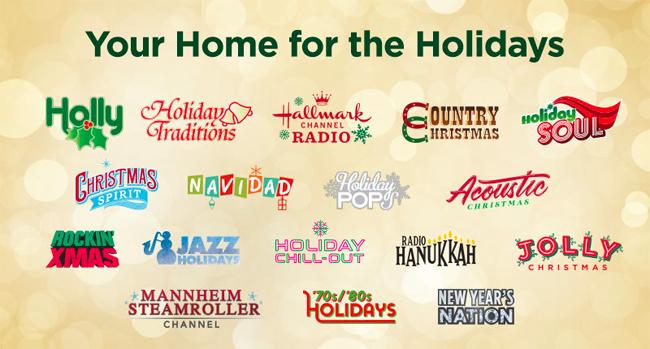 SiriusXM 2020 Holiday Channels