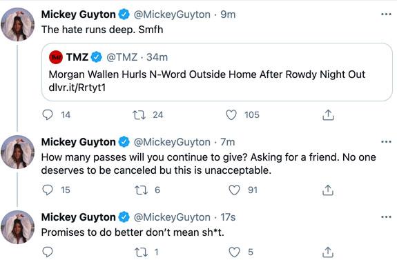 Mickey Guyton speaks out on Morgan Wallen