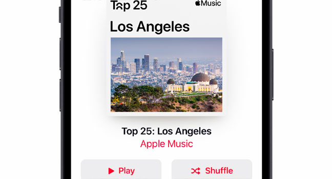 Apple Music City Charts