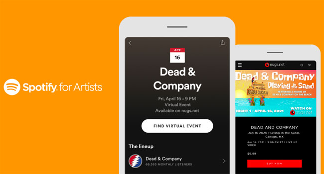 Nugs partners with Spotify for virtual event