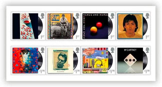 British Royal Mail honoring Paul McCartney