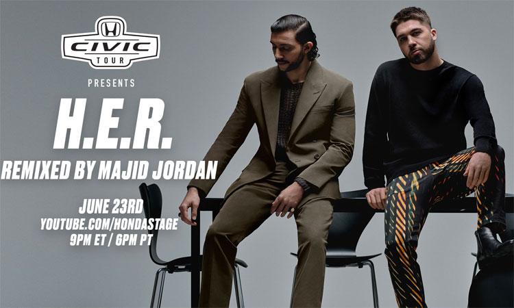 Majid Jordan remixes H.E.R.'s Honda Civic Tour performance